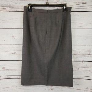 Ann Taylor Loft Gray Pencil Skirt